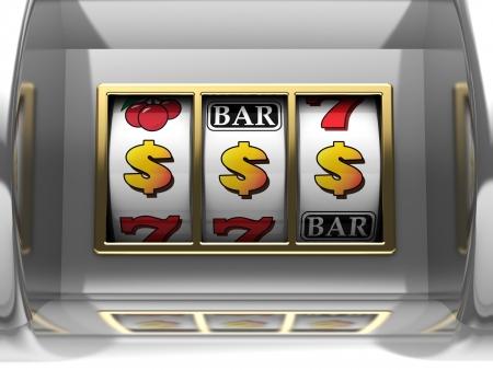 millions: 3d illustration of dollar jackpot slot machine