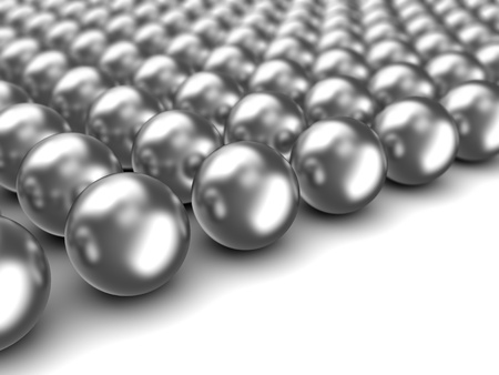 large ball: abstract 3d illustration of chrome spheres background