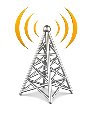 communications tower: 3d illustration of tower wireless equipment