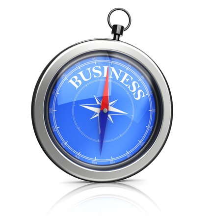 3d illustration of compass pointing to business direction Stock Illustration - 19719405
