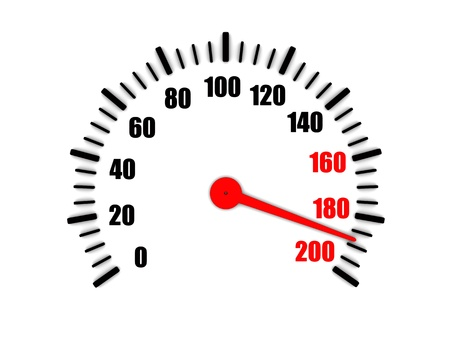 high speed: 3d image of speedometer view a high speed Stock Photo