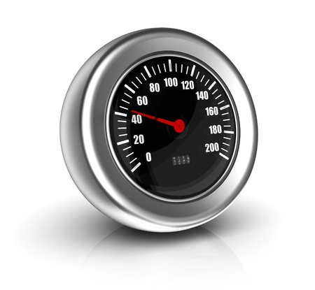 average: 3d icon of speedometer sending unit