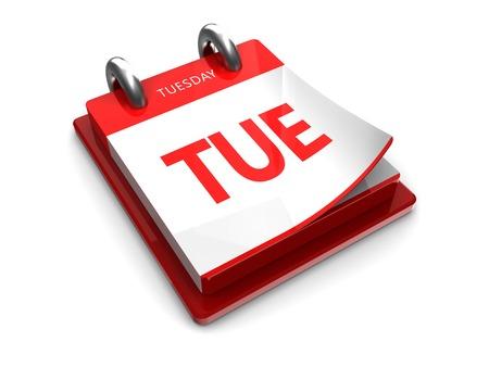 abbreviated: strappo icona del calendario su uno sfondo bianco