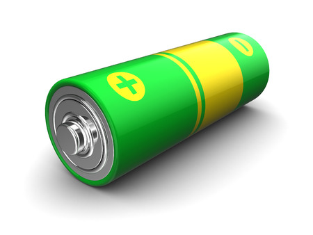 cadmium: 3d illustration of battery over white background