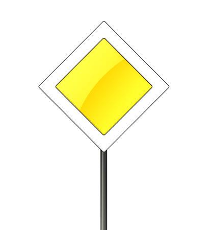 3d illustration of main road sign over white background illustration
