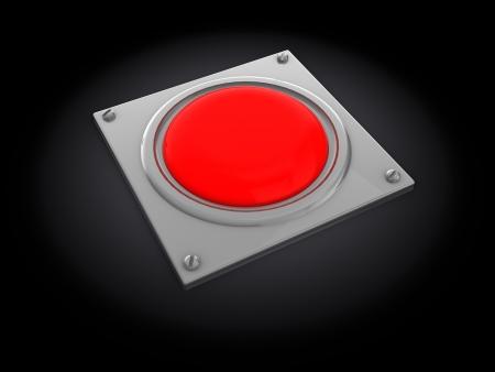 3d illustration of red button over dark background illustration