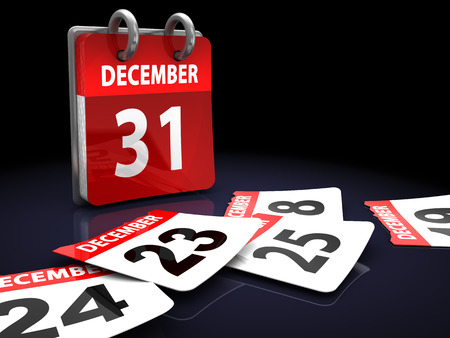 3d illustration of calendar, days passing concept illustration