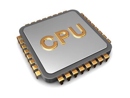 3d illustration of cpu chip over white background illustration