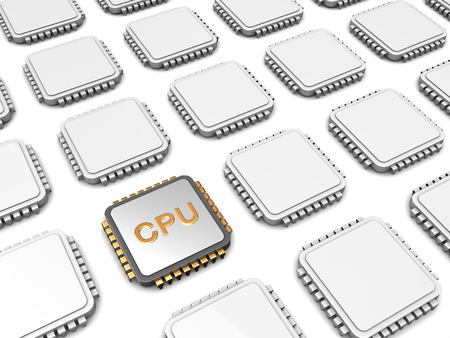 main group: 3d illustration of cpu chip and many others Stock Photo