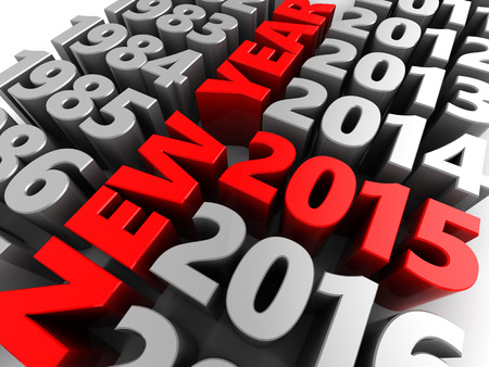 replaced: 3d illustration of new year 2015 concept