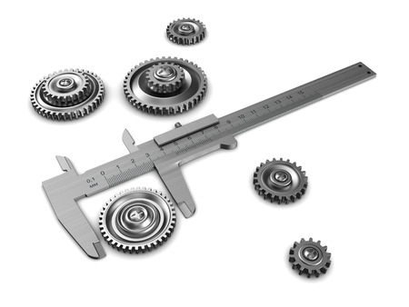 remount: 3d illustration of caliper and gear wheels