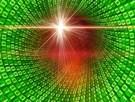 binary data: abstract 3d illustration of binary data flow Stock Photo