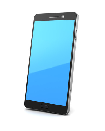 personal data assistant: 3d illustration of generic smartphone over white background