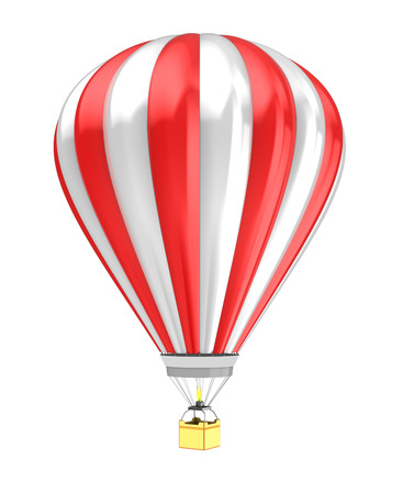 air baloon: 3d illustration of hot air baloon isolated over white background