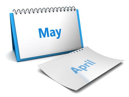 折り畳み式のカレンダーの 3 d イラストが月ページ