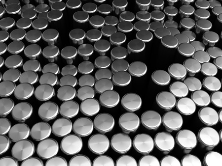 cylinders: abstract 3d illustration of metal cylinders background