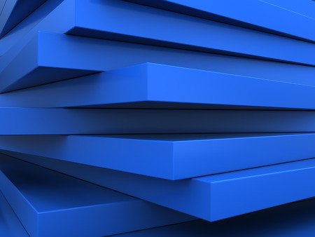 refelction: abstract 3d illustration of blue plates background