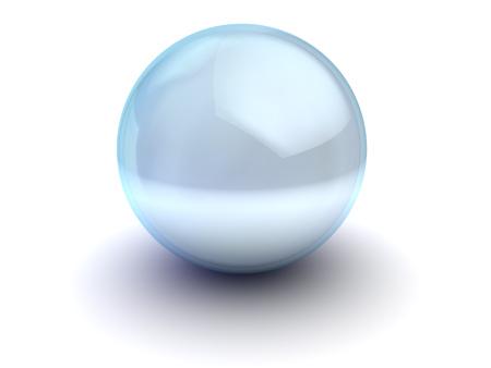 glass sphere: 3d illustration of blue glass sphere