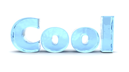 text cool: 3d illustration of text cool, over white background