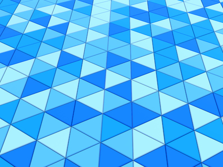 aquamarine: abstract 3d illustration of blue triangles background Stock Photo
