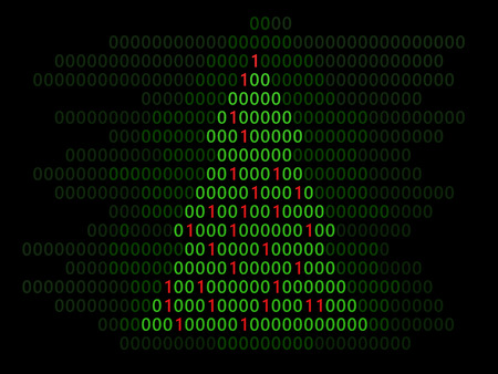 informatics: abstract 3d illustration of binary Christmas tree Stock Photo