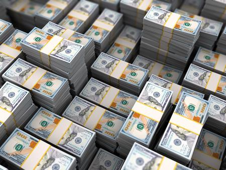 money pile: 3d illustration of big money heap background
