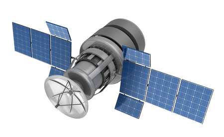 3d illustration of satellite isolated over white backgroun