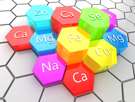 Mineral: abstract 3d illustration of nutrition minerals supplement