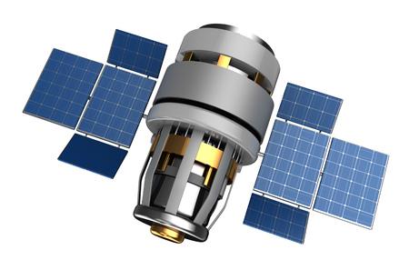 sattelite: 3d illustration of satellite isolated over white