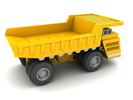 dumper: 3d illustration of heavy dumper over white background