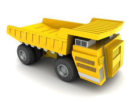 dumper: 3d illustration of huge dumper over white background