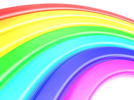 3d rainbow: 3d illustration of rainbow background