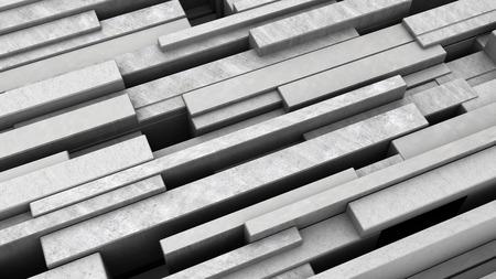 diagonal: 3d illustration of diagonal concrete blocks background