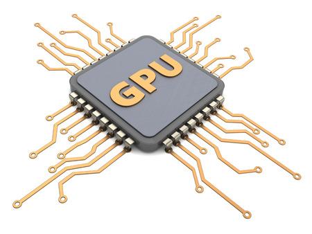 3d illustration of GPU - graphics processing unit