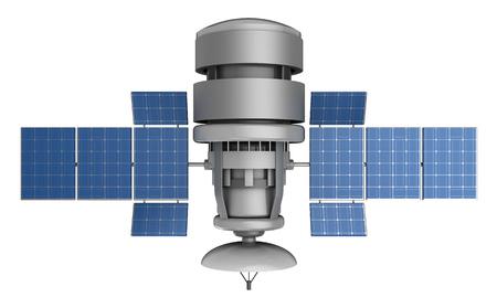 3d illustration of satellite isolated over white background Stock Photo