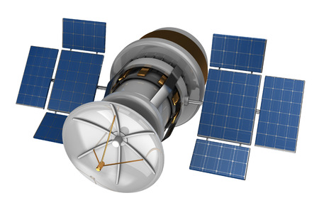 sputnik: 3d illustration of isolated satellite