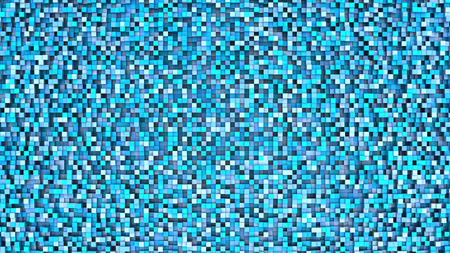 grid pattern: 3d illustration of small cubes background, blue colors