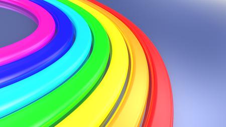 rainbow abstract: abstract 3d illustration of rainbow background