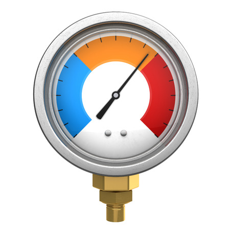 manometer: 3d illustration of manometer or temperature meter isolated over white background