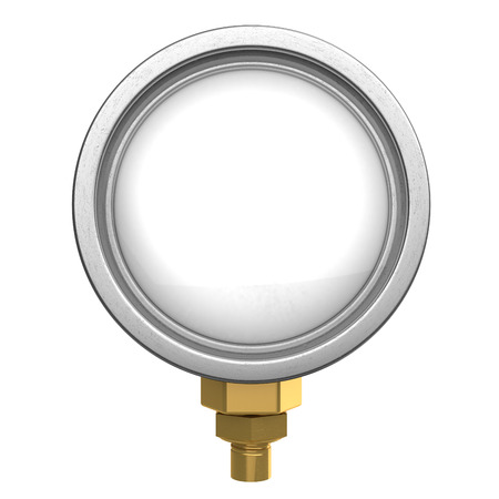 manometer: 3d illustration of clear manometer display, isolated over white Stock Photo