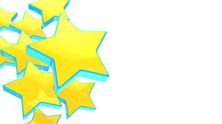 favorite colour: 3d illustration of yellow stars background