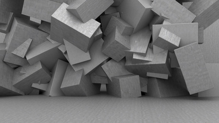 3d illustration of abstract concrete background Stock Photo