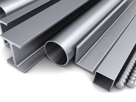 rolled: abstract 3d illustration of rolled metal background Stock Photo