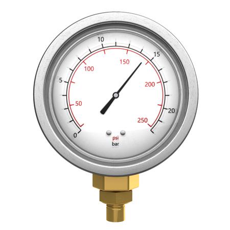 manometer: 3d illustration of manometer isolated over white background Stock Photo