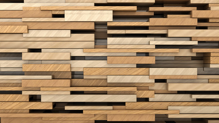 texture backgrounds: 3d illustration of wood planks random size background
