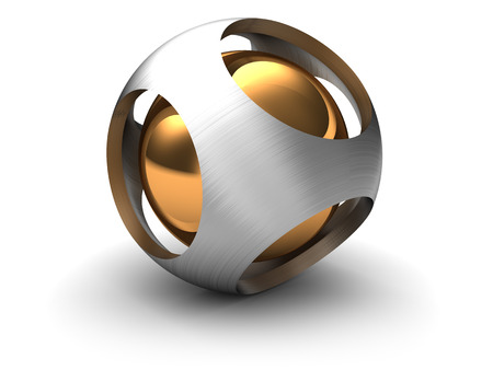 brushed: abstract 3d illustration of sphere shape