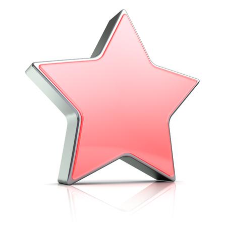 res: 3d illustration of red star over white background