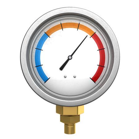manometer: 3d illustration of manometer or water temperature meter