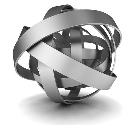 acero: Ilustración 3d abstracto de la estructura de acero sobre blanco Foto de archivo