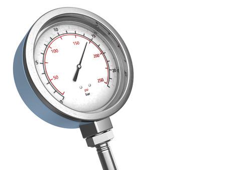 manometer: 3d illustration of manometer over white background